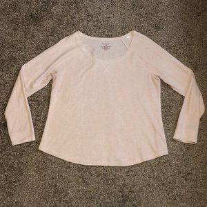Sonoma XL light pink tan long sleeve shirt worn